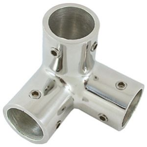 Rail Connector 3 Way Corner 316 Stainless Steel  - 60 Degree 25mm
