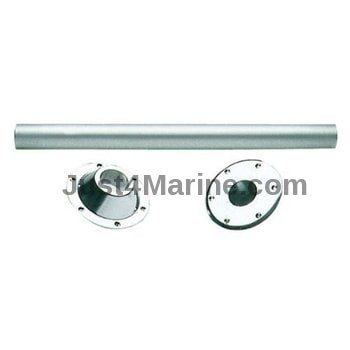 Boat Table Leg 70cm Light Alloy & External and Flush Mount Bases