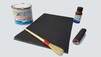 PVC Inflatable Boat Repair Kit - 2 Black Patches