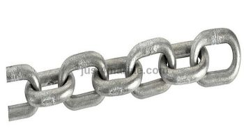 8mm x 25mm Chain Galvanised Steel Calibrated - 10 Metres