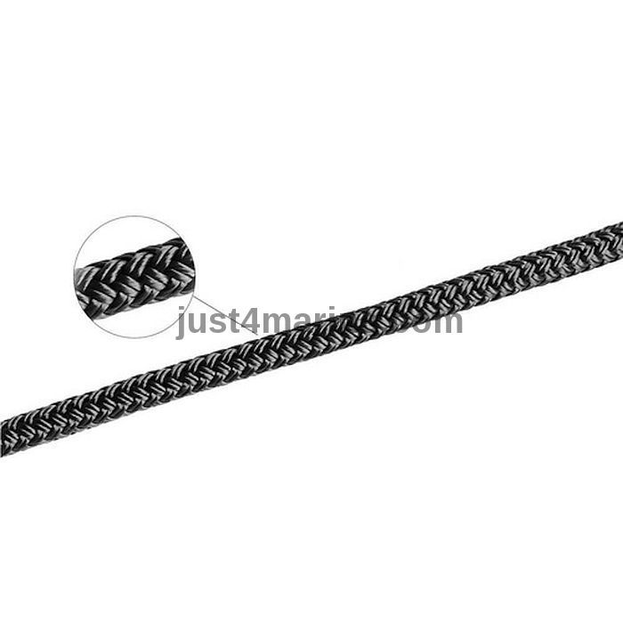 Rope Double Braid Line 16mm Black 5 Metres NEW