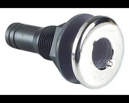 Seacock Black Nylon Stainless Steel Front - 33mm 1.25
