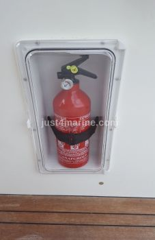 Fire Extinguisher Compartment Housing Locker with Door - Watertight