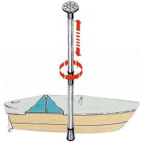 Boat Cover Support Pole Telescopic Adjustable - 75cm to 120cm