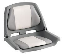 Boat Seat with Folding Backrest - Grey 500 x 430mm