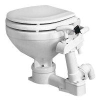 Manual Toilet White Porcelain - Soft Close Compact