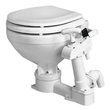 Manual Toilet White Porcelain - Soft Close Compact