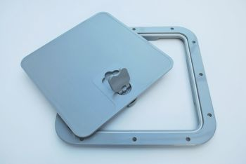Deck Inspection Access Hatch Grey RAL 7042. 375 x 375mm Removable Lid