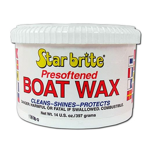 STAR BRITE Boat Wax Presoftened Cleans Shines & Protects UV Rays - 397g