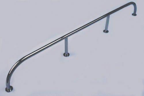 High Level Grab Rail / Handrail 316 Stainless Steel -  1500mm x 200mm