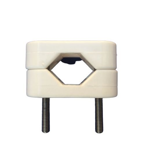 Clamp Nylon Fixing to Rail or Pipe - 22 to 25mm