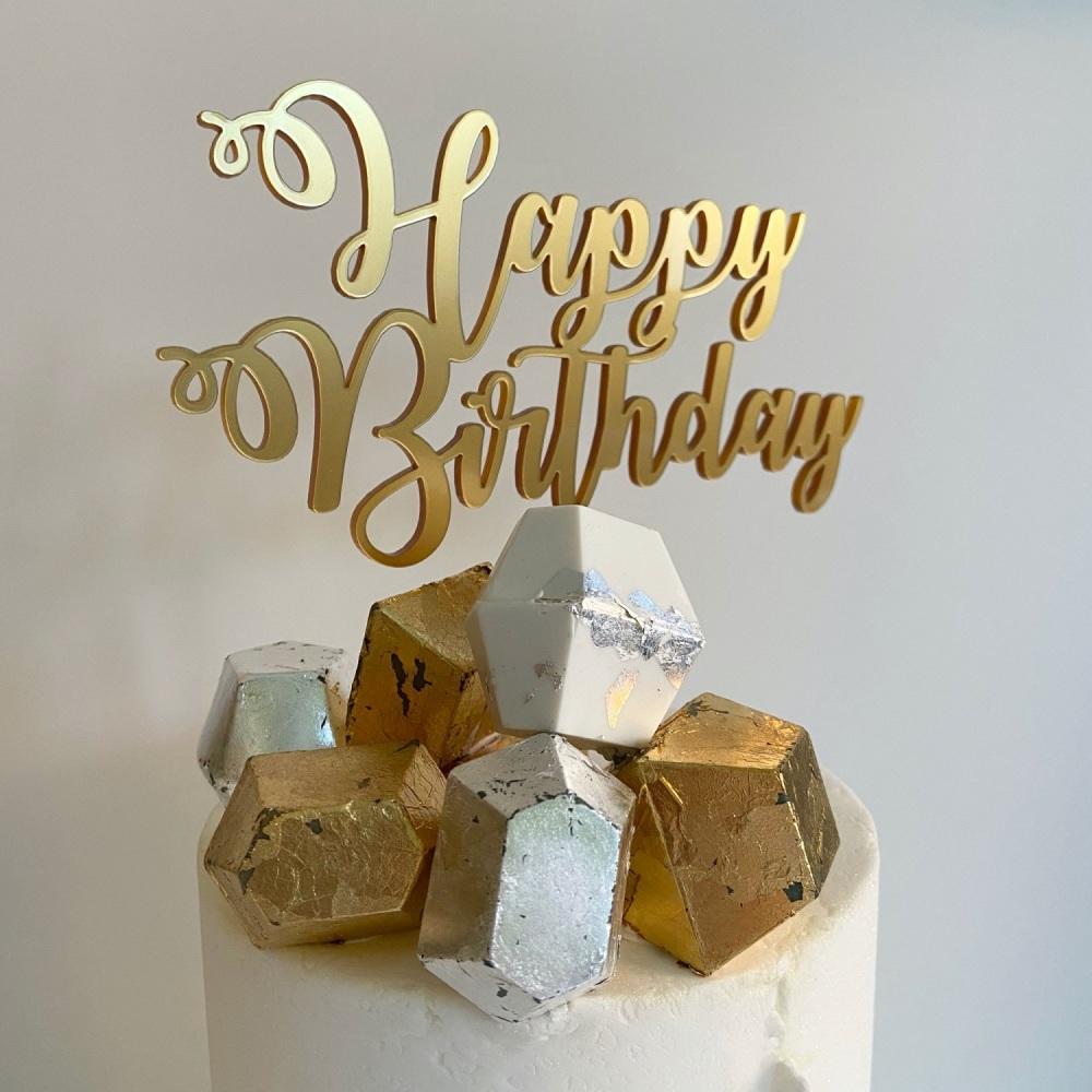 'Happy Birthday' Cake Topper