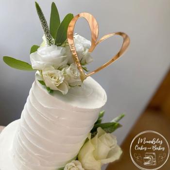 Engraved Heart Cake Topper