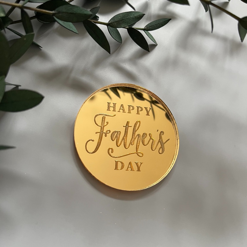 Father's Day Engraved Charm
