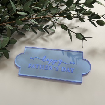'Happy Father's Day' Rectangle Embosser