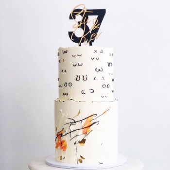 Bespoke Design Service - Double Layer Cake Topper - Image & Lettering