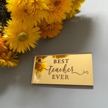 Teacher Engraved Tag