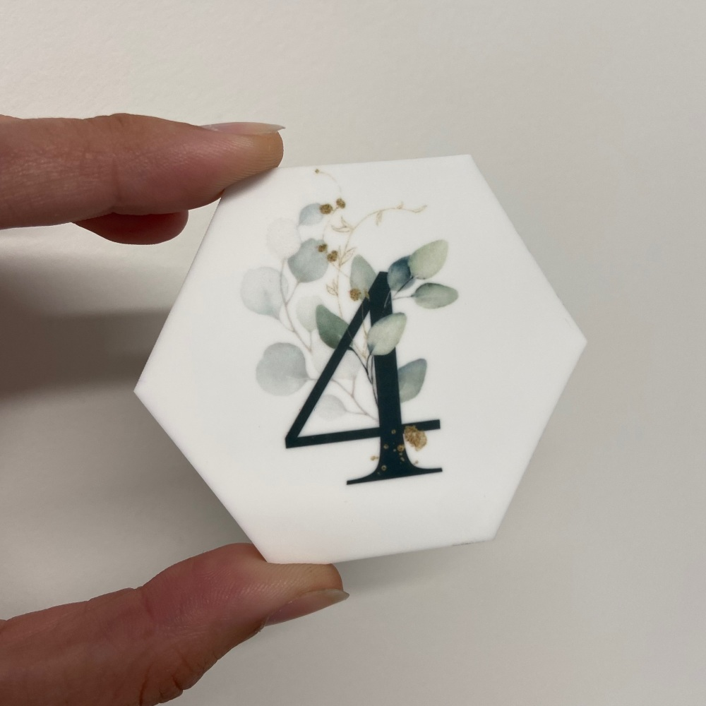 PRETTY IN PRINT - Green Eucalyptus Initial or Age
