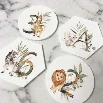 PRETTY IN PRINT - Animal with Initial or Age
