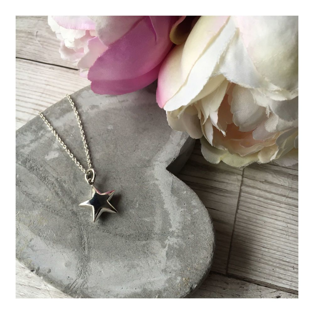 Sterling Silver Chunky Star Pendant