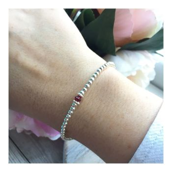 Swarovski Crystal Birthstone Bracelet- January