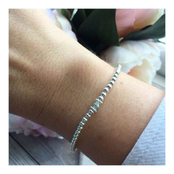 Swarovski Crystal Birthstone Bracelet- March