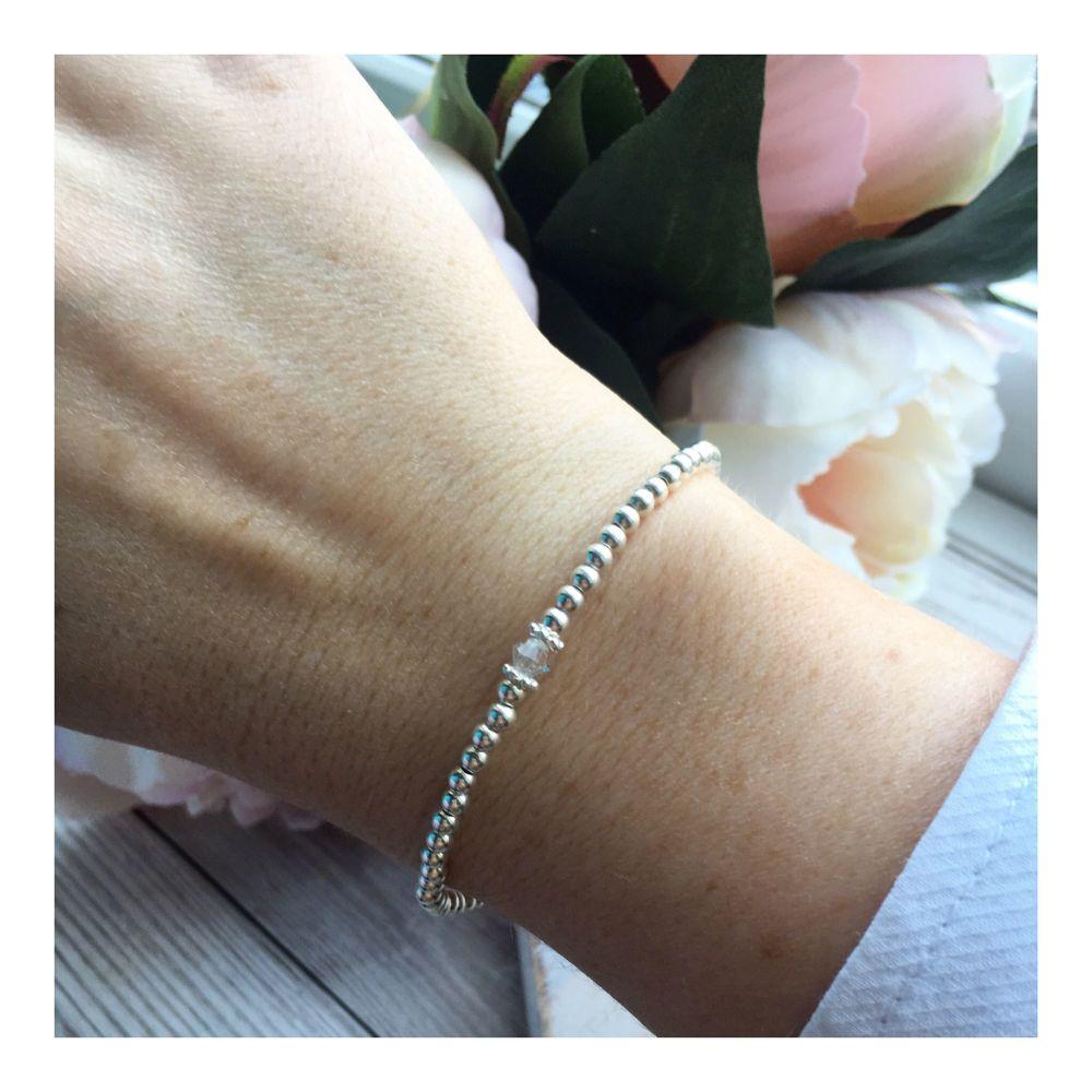 Swarovski Crystal Birthstone Bracelet- April