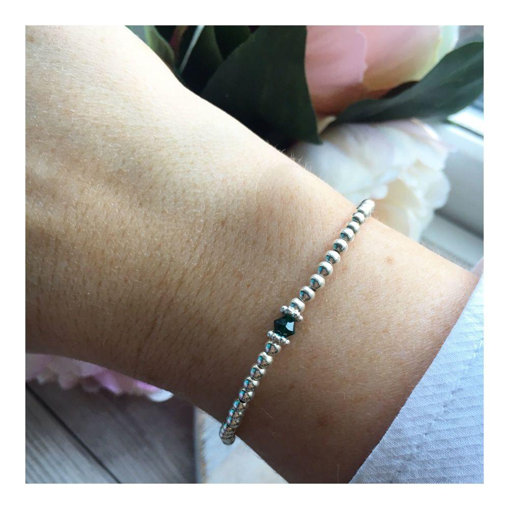 Swarovski Crystal Birthstone Bracelet- May