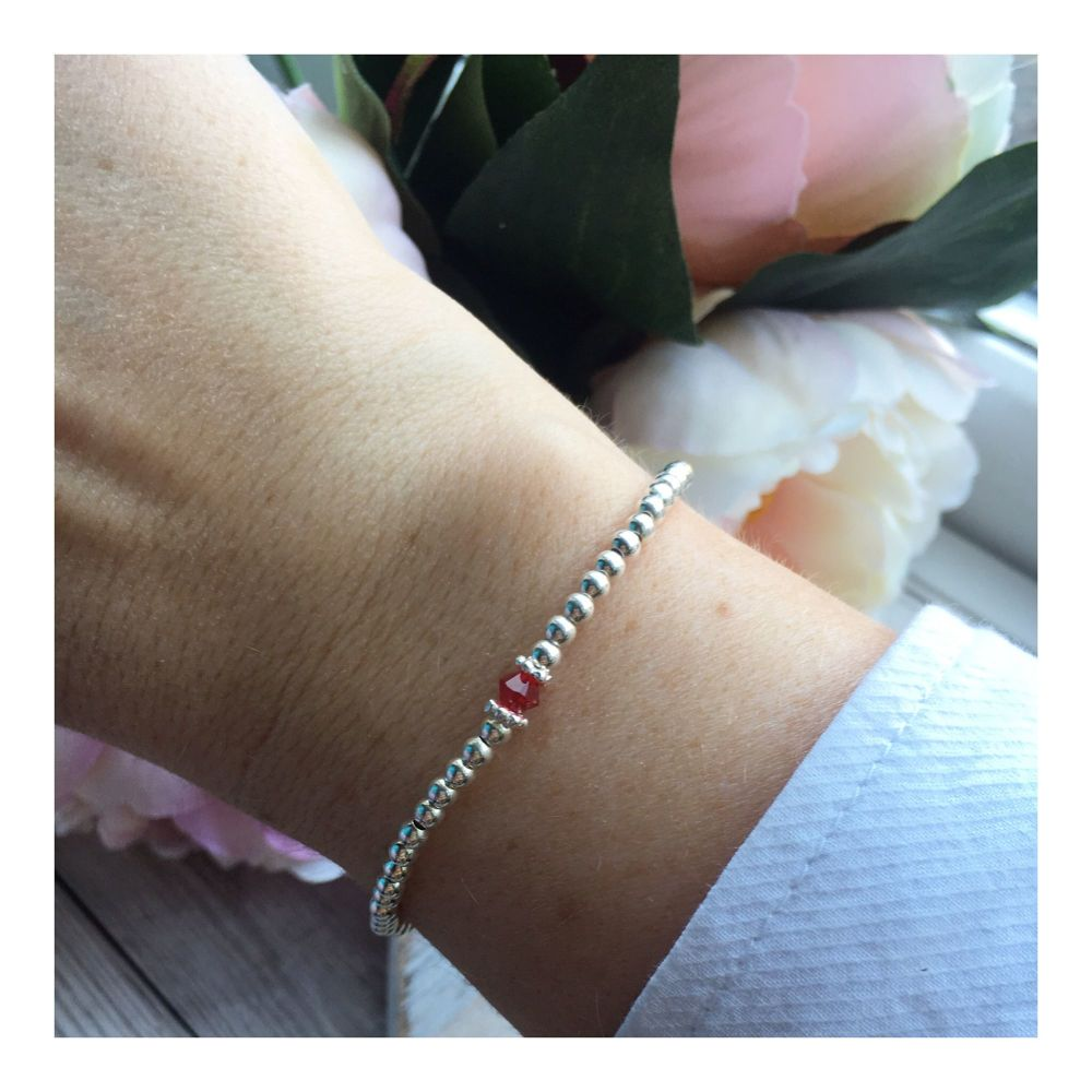 Swarovski Crystal Birthstone Bracelet- July