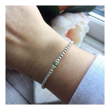 Swarovski Crystal Birthstone Bracelet- August