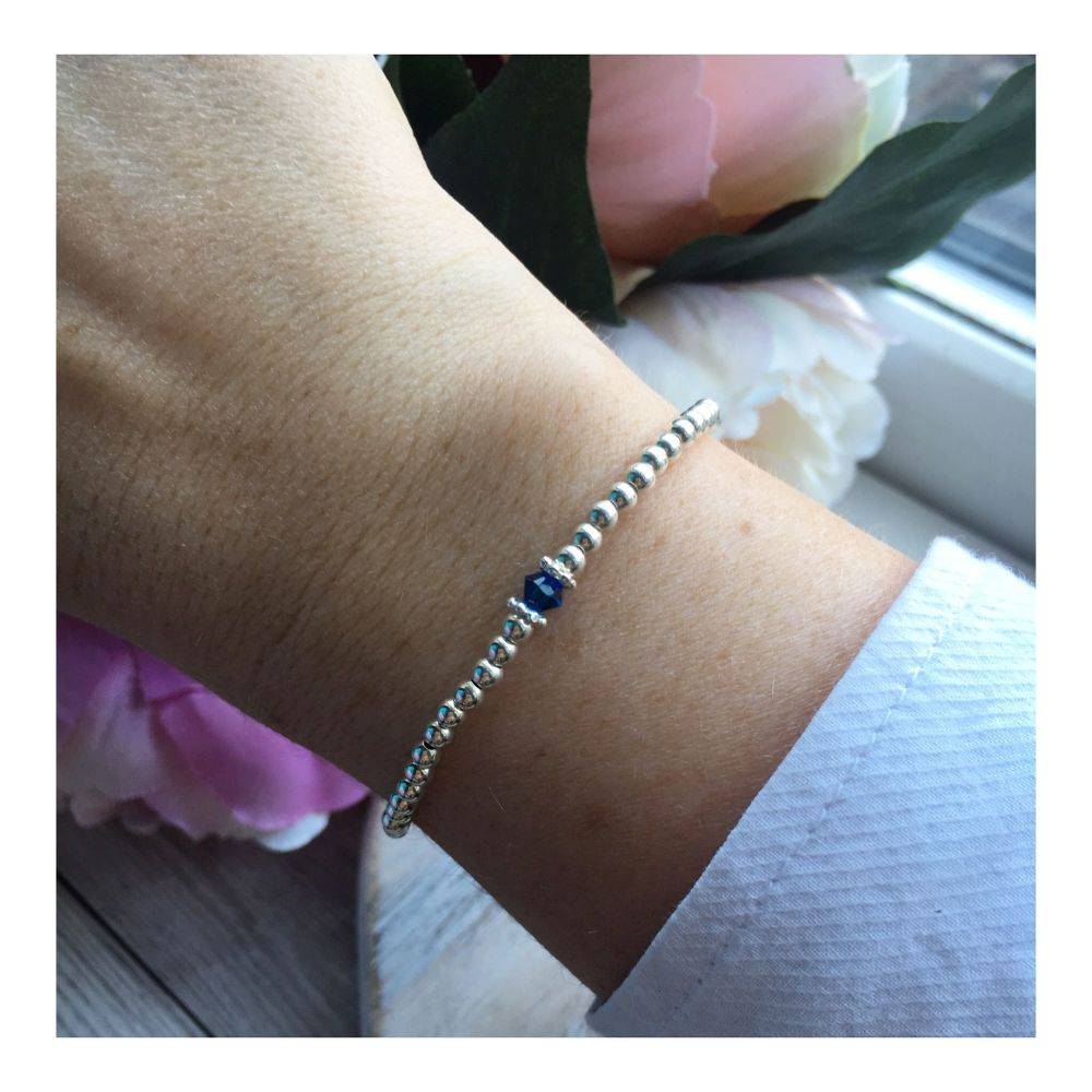 Swarovski Crystal Birthstone Bracelet- September