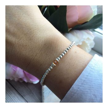 Swarovski Crystal Birthstone Bracelet- November