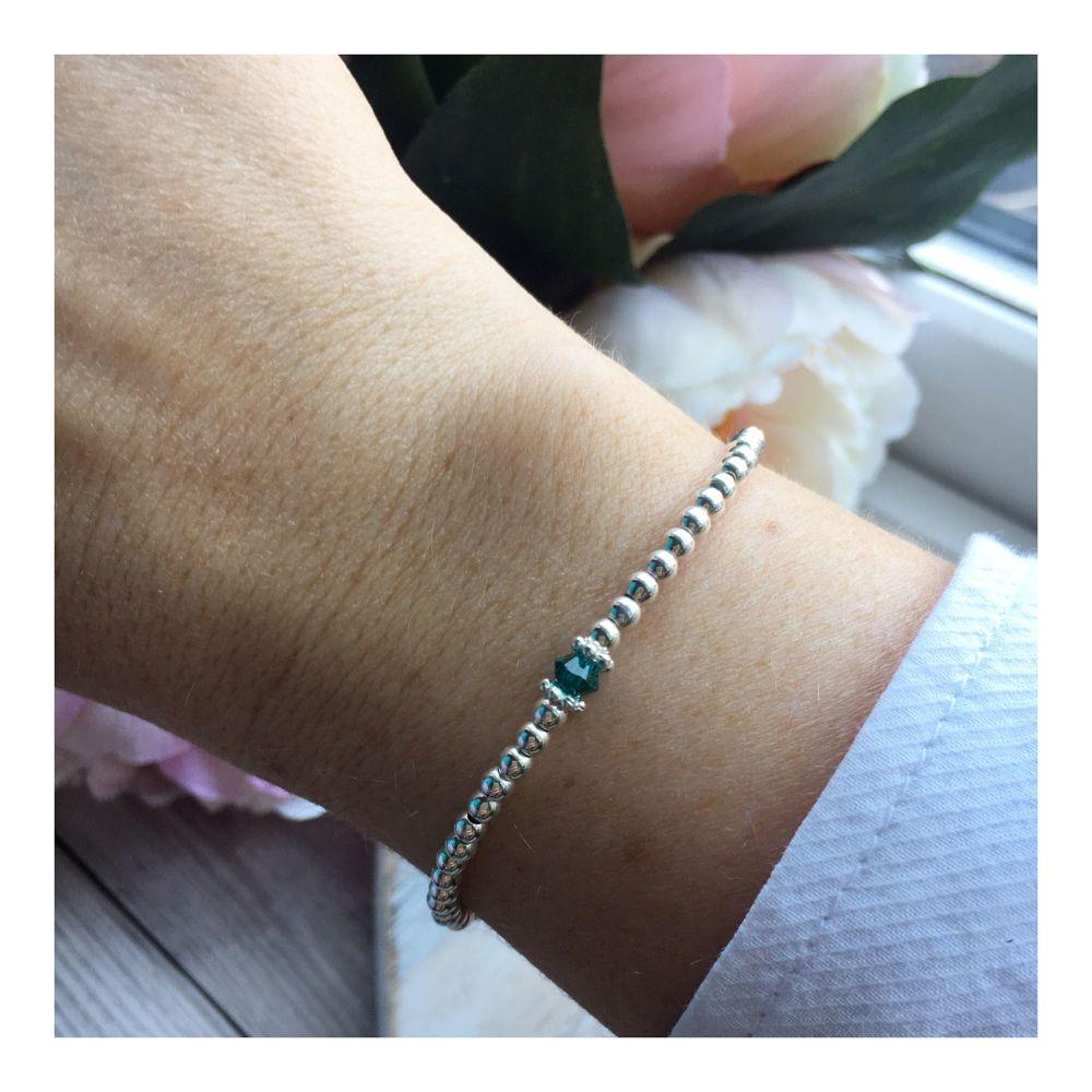 Swarovski Crystal Birthstone Bracelet- December