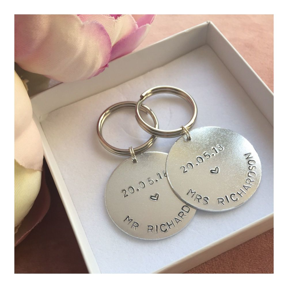 Mr & Mrs Personalised Keyrings