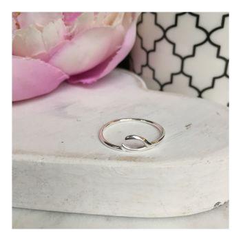Simple Sterling Silver Wishbone Ring