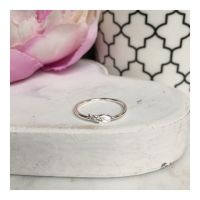 Simple Sterling Silver Angel Wing Ring
