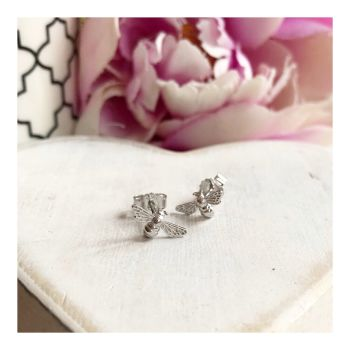 Sterling Silver Bee Stud Earring