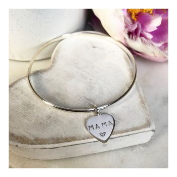 Personalised Bangle With Heart