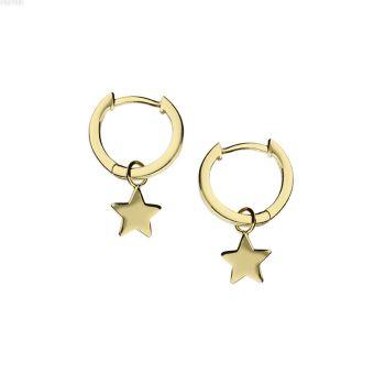Gold Star Hoop Huggie