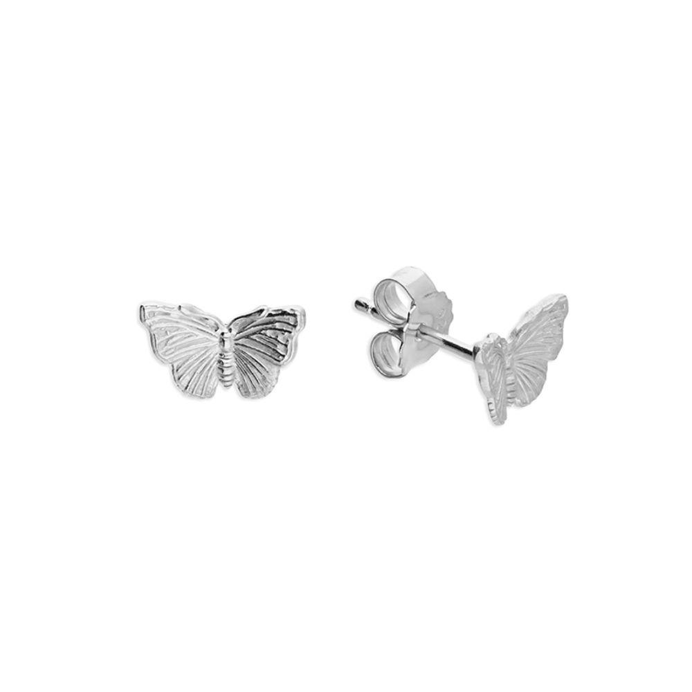 Butterlfy Stud Earrings in Sterling Silver