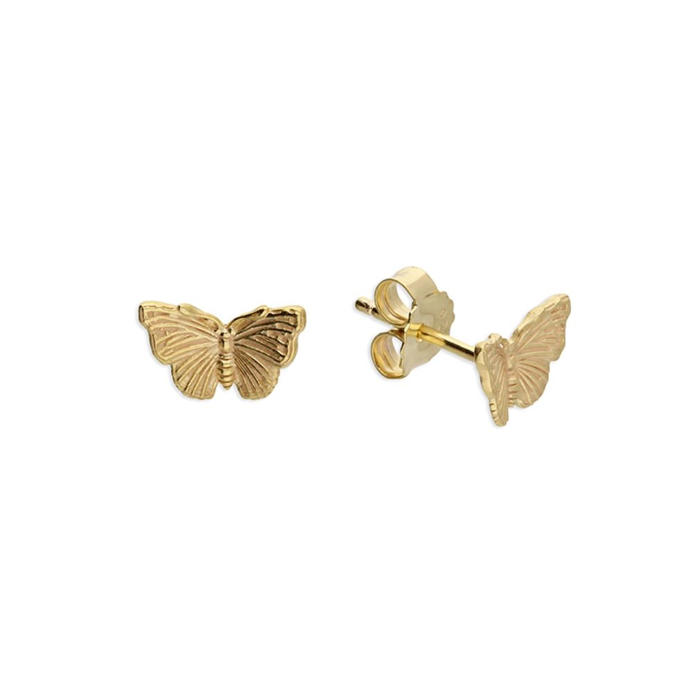 Butterfly Stud Earrings in Gold