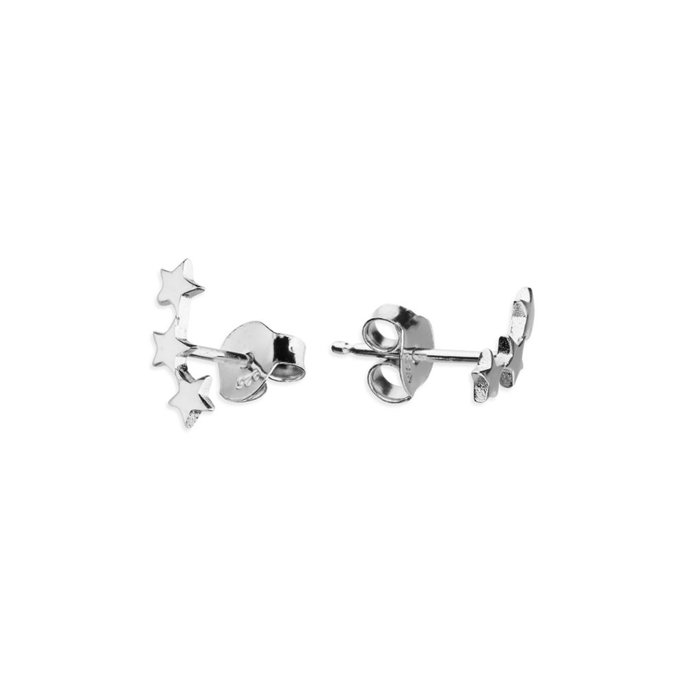 Star Crawler Stud Earrings in Sterling Silver