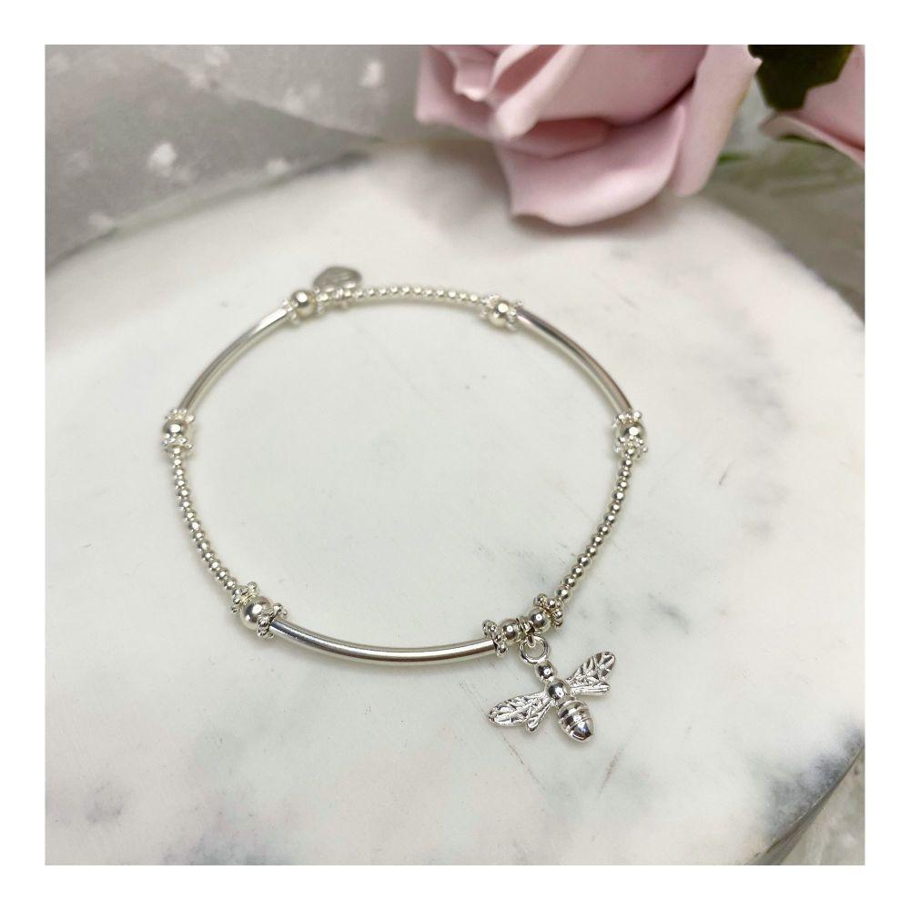 Mini Boodle Sterling Silver Bee Bracelet