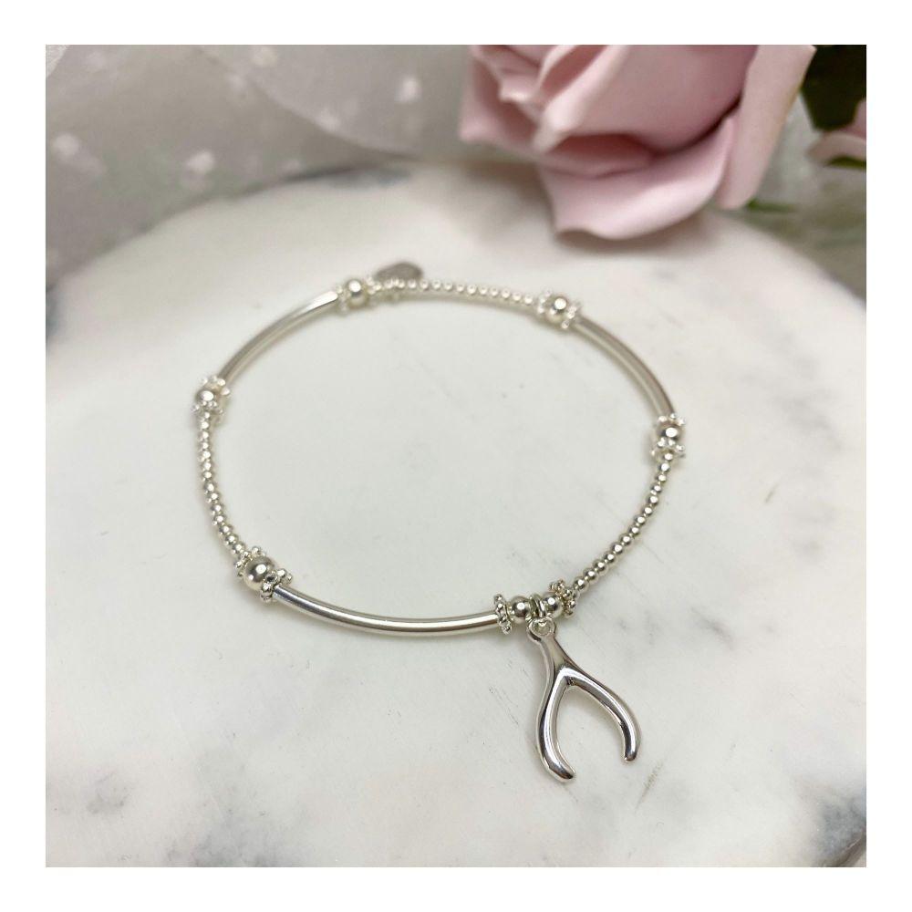 Mini Boodle Sterling Silver Wishbone Bracelet
