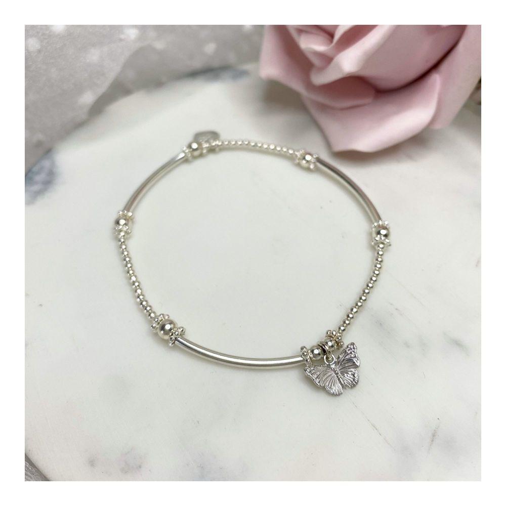 Mini Boodle Sterling Silver Butterfly Bracelet