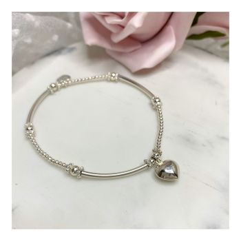 Mini Boodle Sterling Silver Bubble Heart Bracelet