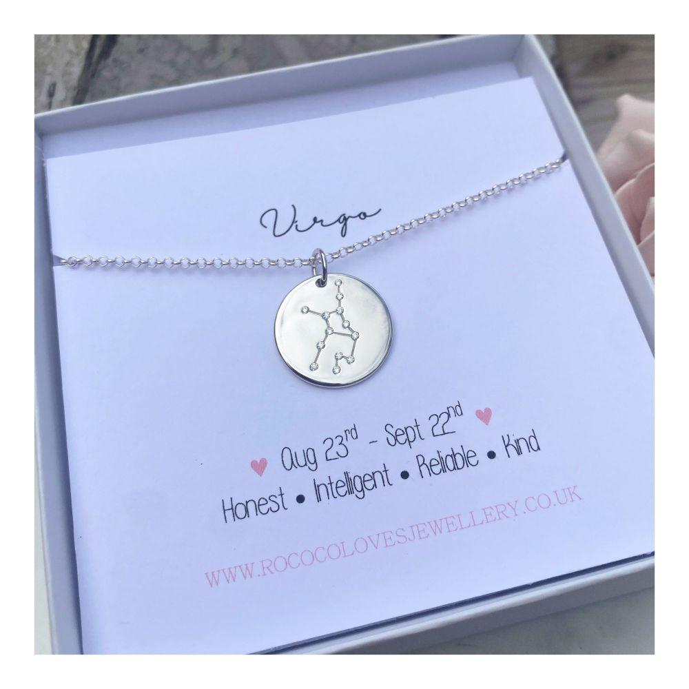 Virgo Constellation Zodiac Necklace