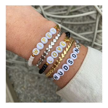 Personalised Beaded Letter Bracelets- Create your own