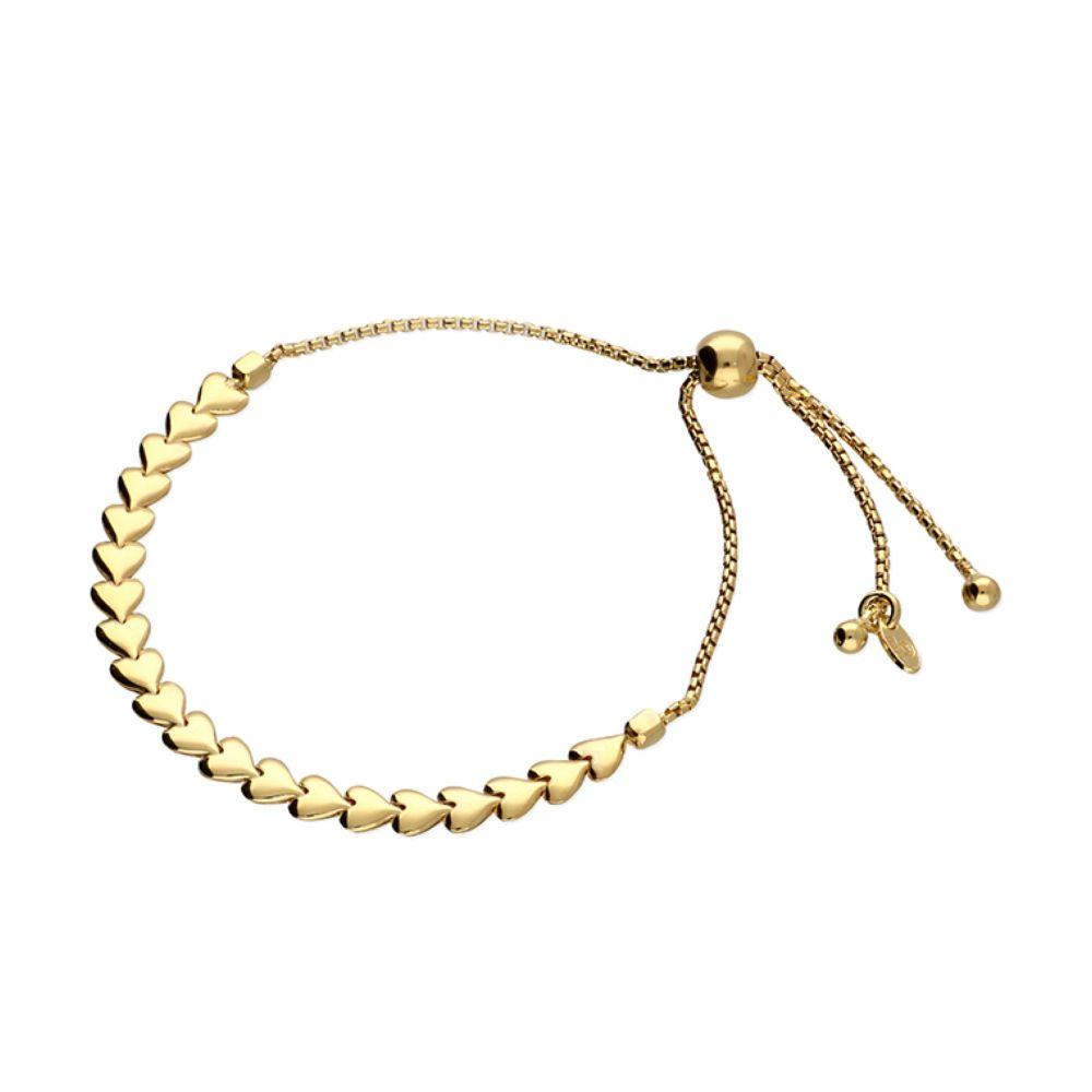 Arrow Heart Slider Bracelet in Gold
