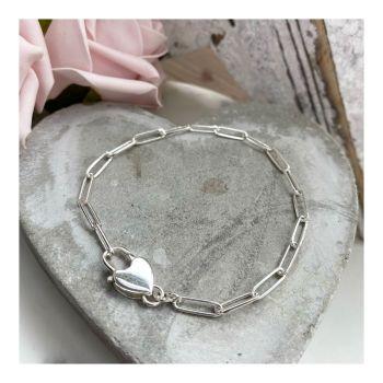 Padlock Heart Link Bracelet